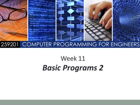 Week 11 Basic Programs 2.