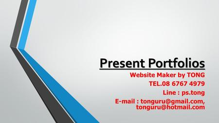 Present Portfolios Website Maker by TONG TEL