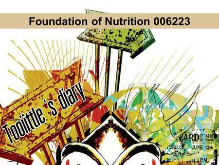 Foundation of Nutrition
