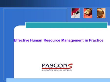 Company LOGO Effective Human Resource Management in Practice.