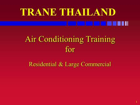 Air Conditioning Training for