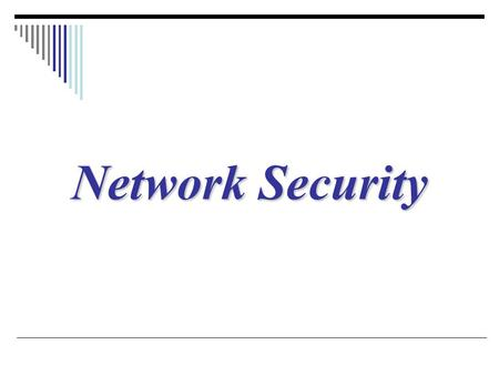 Network Security.