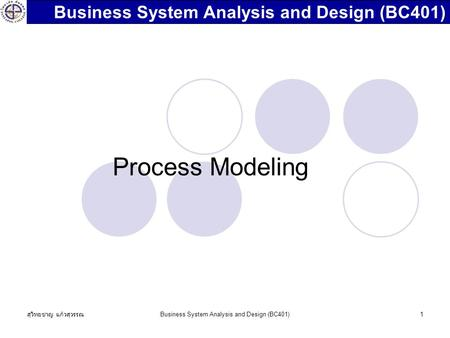 Business System Analysis and Design (BC401)