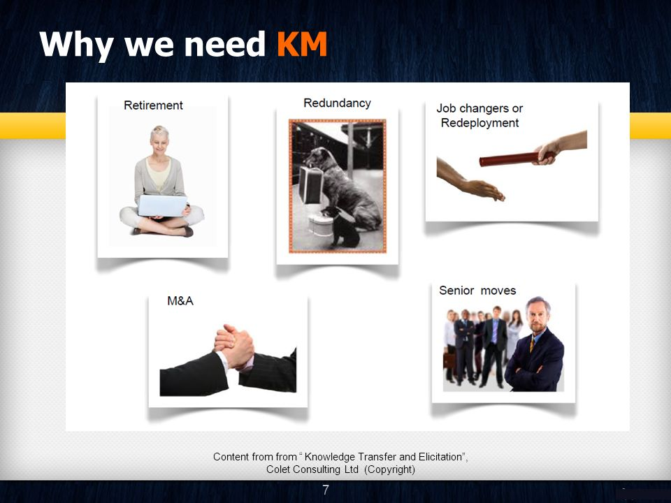 Why we need KM 8