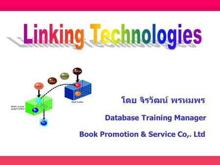 โดย จิรวัฒน์ พรหมพร Database Training Manager Book Promotion & Service Co,. Ltd.