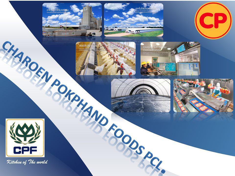 บริษัทเจริญโภคภัณฑ์อาหาร จำกัด ( มหาชน ) และบริษัท ย่อย หรือ กลุ่ม ซีพีเอฟ มีเป้าหมายในการคงความเป็นผู้นำใน ธุรกิจเกษตรอุตสาหกรรมและอาหาร บริษัทมีความมุ่งมั่นในการ ผลิตผลิตภัณฑ์อาหารที่มีคุณภาพ มีคุณค่าทางโภชนาการ สะอาด ถูกสุขอนามัย และปลอดภัยสู่ผู้บริโภคในประเทศต่างๆทั่วโลก ด้วยวิสัยทัศน์การมุ่งเป็น ครัวของโลก ด้วยการให้ ความสำคัญและทุ่มเท กับการวิจัยพัฒนาในทุกๆขั้นตอนการ ดำเนินการให้มีประสิทธิภาพเพื่อผลิตภัณฑ์อาหารที่สอดคล้องกับ ความพึงพอใจและพฤติกรรมของผู้บริโภคที่เปลี่ยนแปลง ตลอดเวลา พร้อมทั้งยึดนโยบายการดำเนินธุรกิจในลักษณะเป็น มิตรต่อสิ่งแวดล้อมและช่วยเหลือดูแลสังคมอย่างต่อเนื่อง บริษัทเจริญโภคภัณฑ์อาหาร จำกัด ( มหาชน )