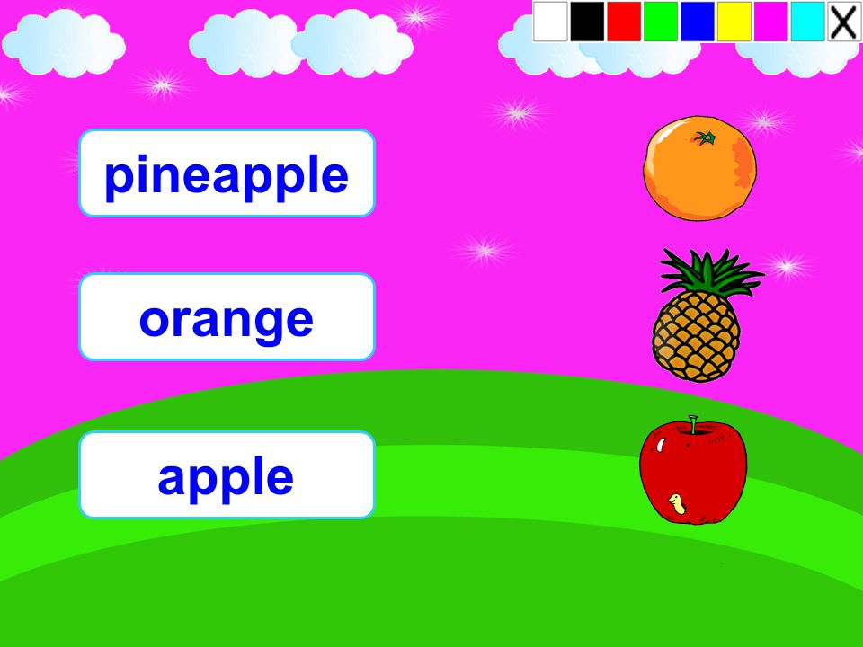 pineapple orange apple