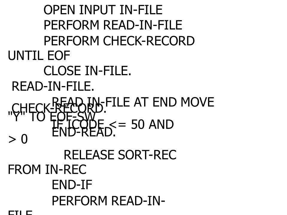 คำสั่ง MERGE คำสั่งนี้ใช้สำหรับนำแฟ้มที่ประกอบด้วย ข้อมูลที่เรียงลำดับแล้วตั้งแต่ 2 แฟ้มขึ้นไป มา รวมกันแล้วได้แฟ้มใหม่ แฟ้มใหม่ที่เกิดขึ้นนี้จะ ประกอบด้วยข้อมูลที่เรียงลำดับแล้วเช่นกัน คำสั่ง MERGE มีวิธีการใช้งานเหมือนกับคำสั่ง SORT 159159 237237 123579123579