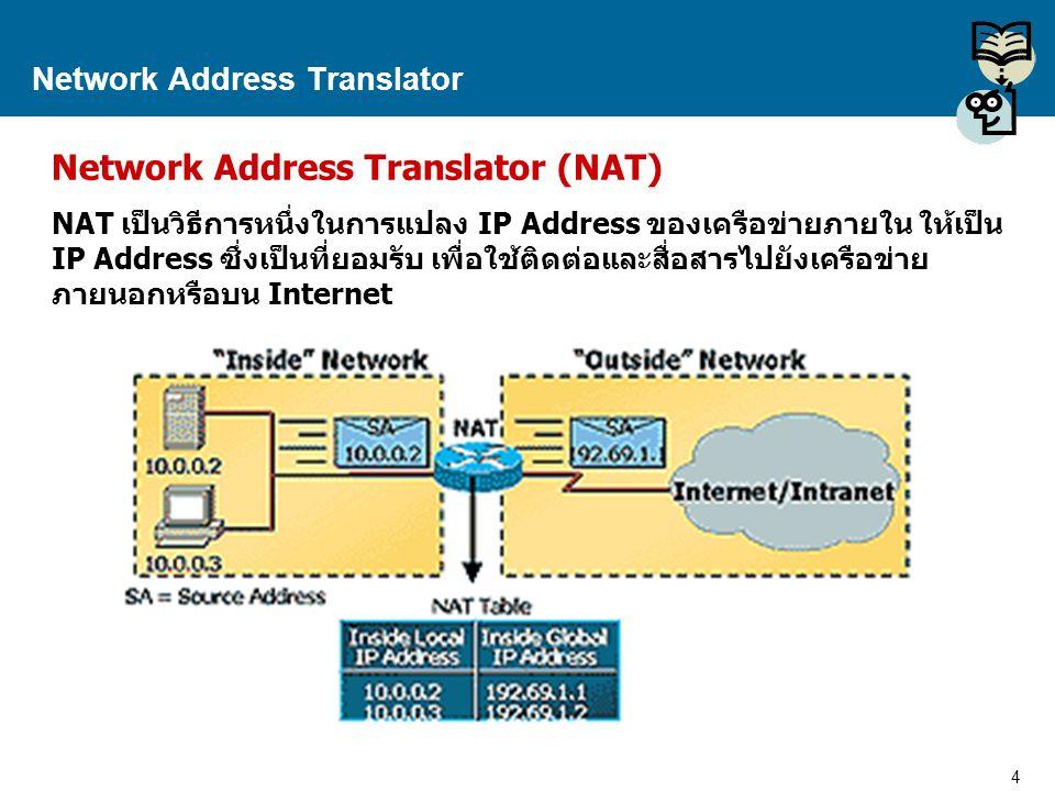 5 Proprietary and Confidential to Accenture Network Address Translator NAT ทำงานอย่างไร.
