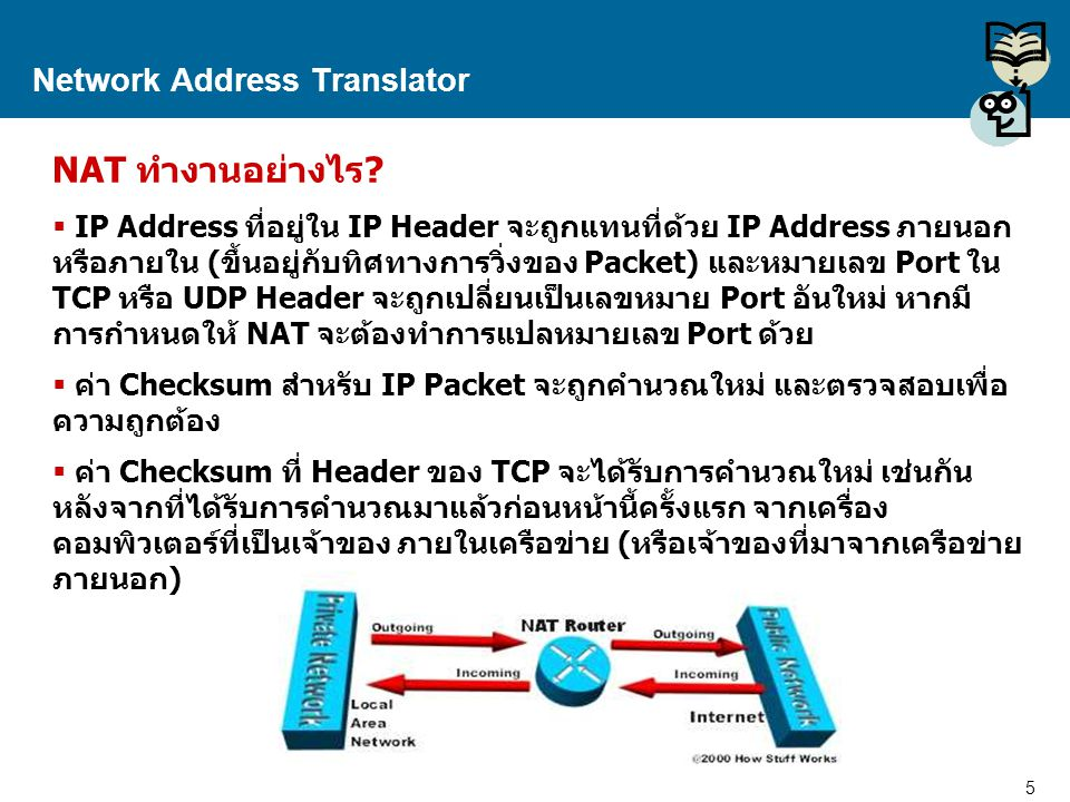 6 Proprietary and Confidential to Accenture Network Address Translator IP Packet ลักษณะของ IP Packet