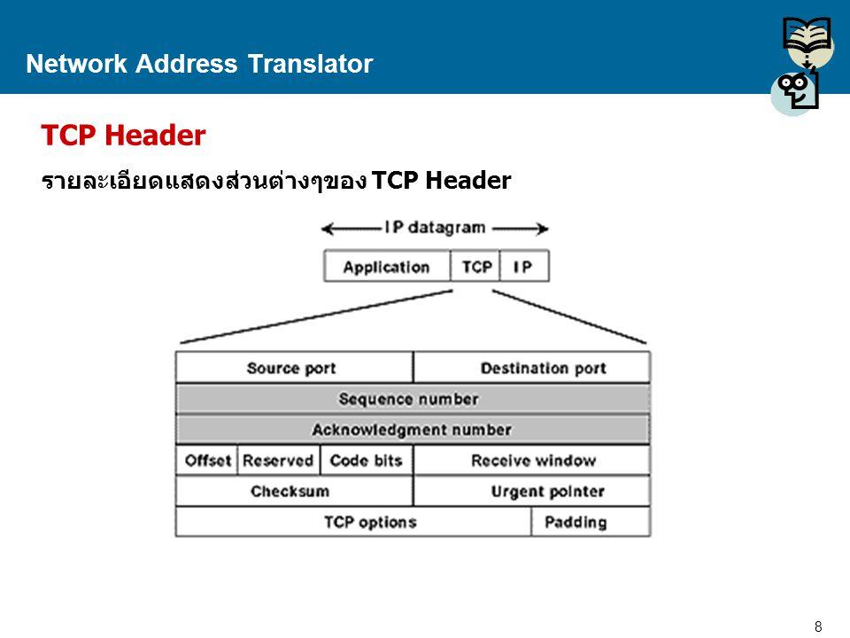9 Proprietary and Confidential to Accenture Network Address Translator ชนิดของ NAT NAT มีด้วยกัน 2 ชนิดหลักๆ คือ  Static NAT  Dynamic NAT ทำการแปล IP Address ชนิดกำหนดค่า แอดเดรส (Address) ตายตัว จากเครือข่ายภายใน ไปยังเครือข่ายภายนอก ส่วนแอดเดรส ภายนอกจะไม่มีการเปลี่ยนแปลง ดังนั้น ความสัมพันธ์ระหว่าง ไอพี แอดเดรส ของ เครือข่ายภายนอกและภายในจะเป็นแบบแน่นอน ตายตัว เป็นแบบตรงกันข้าม คือมีการนำเอา IP Address จาก กลุ่มของ IP Address ที่แชร์หรือร่วมกันใช้งาน หรือที่เรียกว่า Address Pool มา ทำการแปล จาก Address Pool ภายใน ให้เป็น Address Pool สำหรับเครือข่ายภายนอก