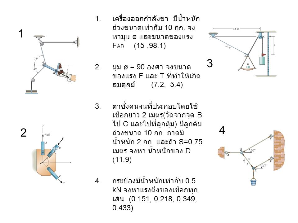 Chapter 3 Homework 3D Equilibrium of Particle