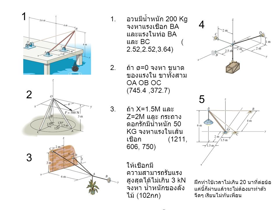 Chapter 5 Homework 2D Equilibrium of Rigid Body