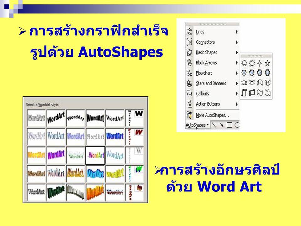  การตกแต่ง Background ของสไลด์  การใส่สีให้กับ Background  การใส่ลวดลายให้กับ Background  การดูสไลด์สลับระหว่างสีและขาวดำ  การใส่ Date/Time, Slide Number และ Footerในสไลด์