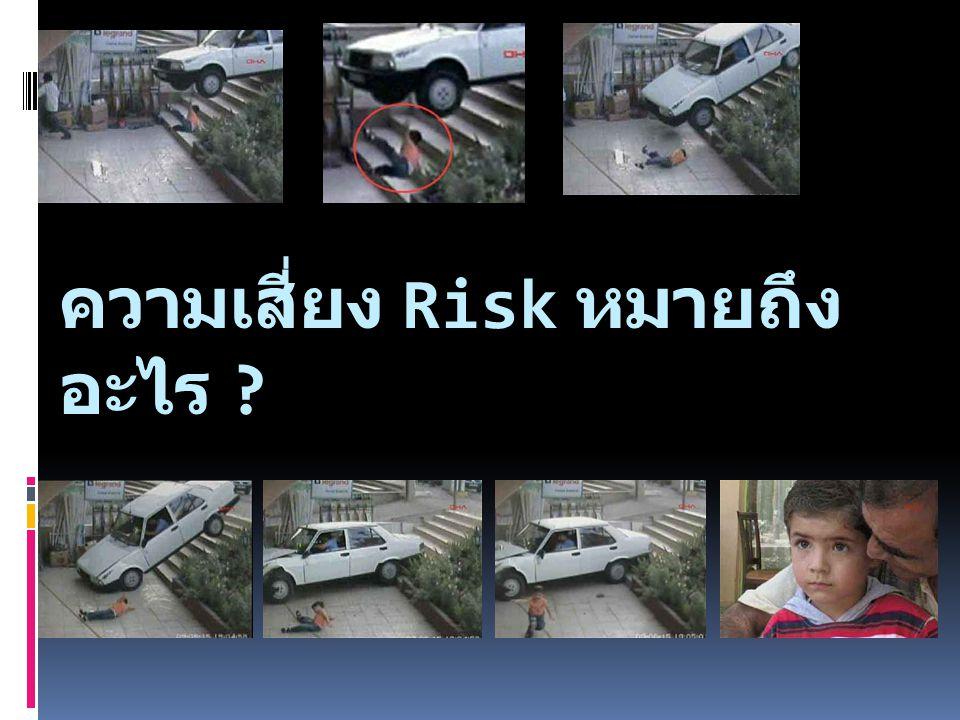 ความเสี่ยง Risk หมายถึง โอกาสที่จะ เกิดความผิดพลาดความเสียหาย การ รั่วไหล ความสูญเปล่า หรือ เหตุการณ์ ซึ่งไม่พึงประสงค์ ที่ทำให้งานไม่ประสบ ความสำเร็จ ตามวัตถุประสงค์ (Objective) และเป้าหมาย (Taget) ที่ กำหนด