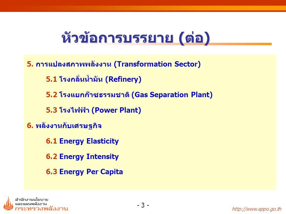 http://www.eppo.go.th - 4 -  พลังงาน หมายถึง ความสามารถใน การทำงาน ซึ่งมีอยู่ในตัวของสิ่งที่อาจให้ พลังงานได้ ตามความหมายของ พรบ.คณะกรรมการนโยบาย พลังงานแห่งชาติ จะรวมถึง สิ่งที่อาจให้งานได้ เช่น เชื้อเพลิงชนิดต่างๆ ความร้อน และไฟฟ้า