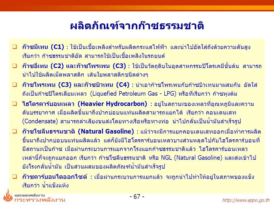 http://www.eppo.go.th - 68 - กระบวนการแยกก๊าซธรรมชาติ