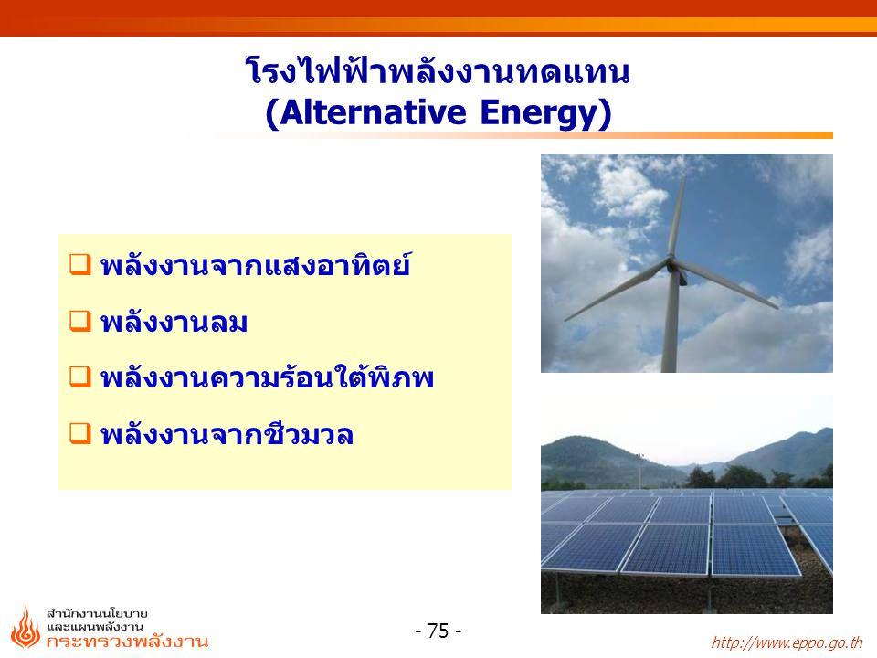 http://www.eppo.go.th - 76 - พลังไฟฟ้า (POWER) พลังงานไฟฟ้า (ENERGY)