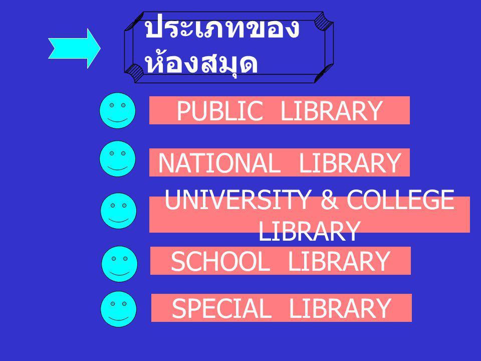 กิจก รรม ให้นักศึกษาแต่ละกลุ่ม ค้นหา Website ของ ห้องสมุดประเภทต่าง ๆ ประเภทละ 5 Websites