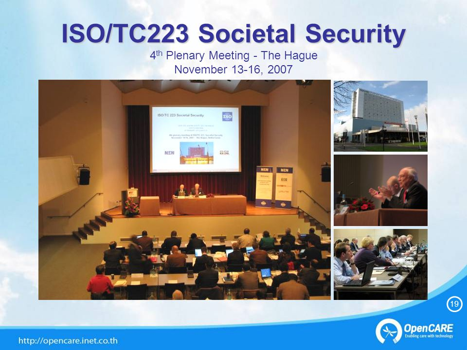 20 OpenCARE Presentation in WG3 ISO/TC223