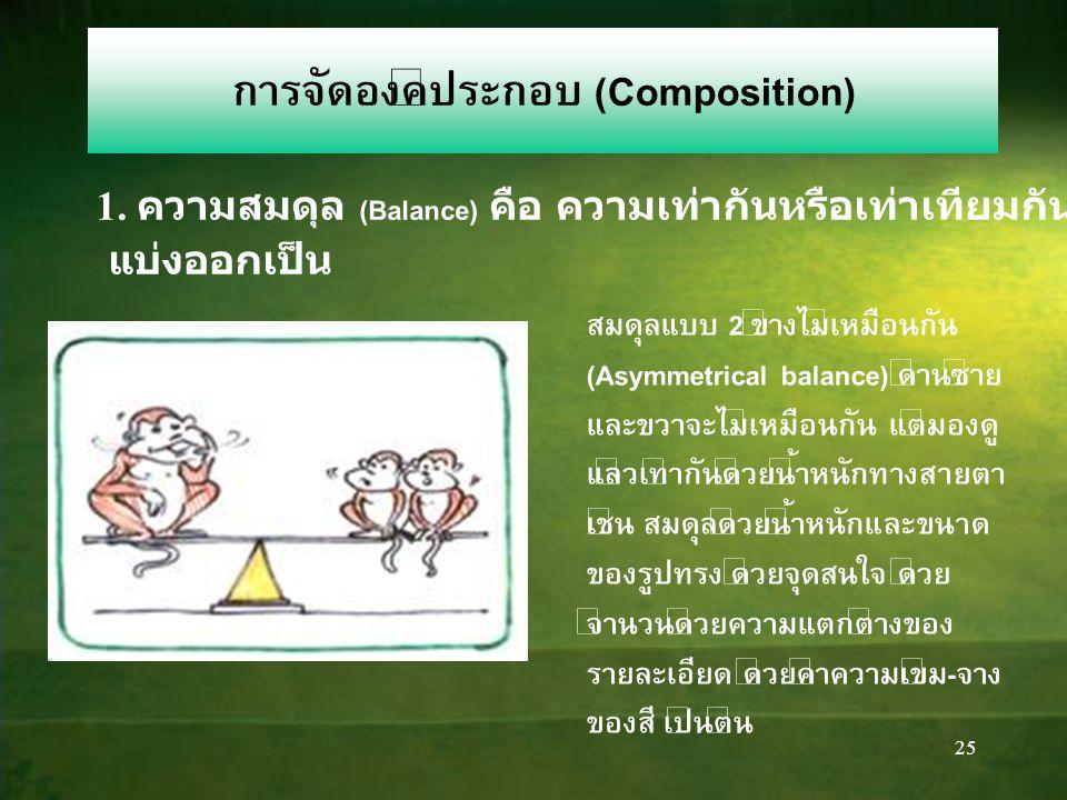 25 การจัดองค์ประกอบ (Composition) 1.