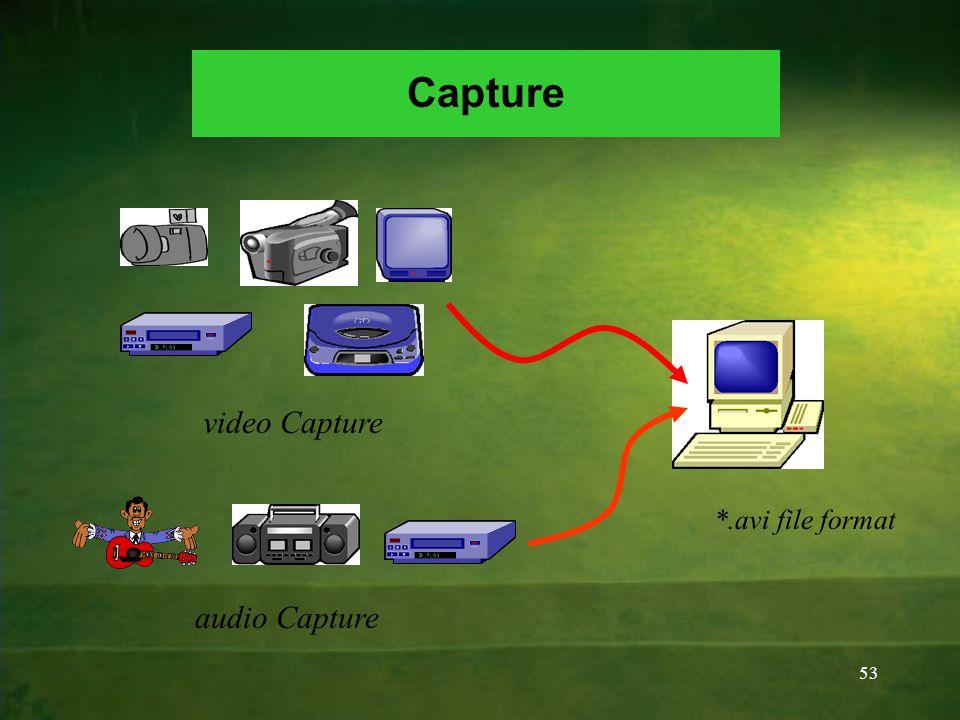 53 video Capture audio Capture Capture *.avi file format