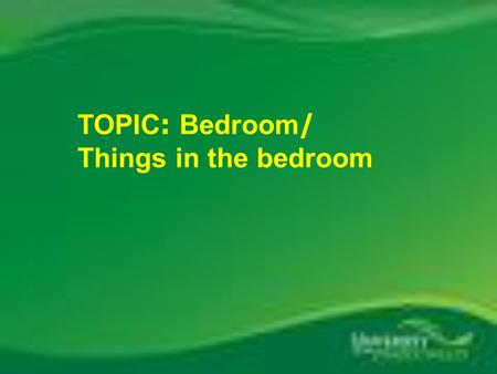 TOPIC: Bedroom/ Things in the bedroom. closet slippers picture bed sheets curtains blanket bookcase wardrobe poster pillow clock lamp nightstand Read.