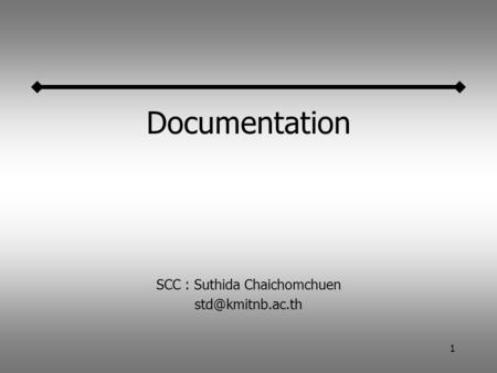 1 Documentation SCC : Suthida Chaichomchuen