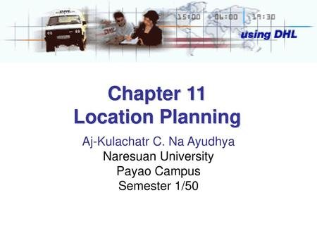 Chapter 11 Location Planning