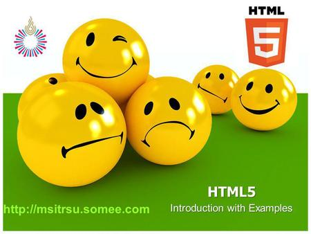 Introduction with Examples HTML5