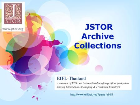 JSTOR Archive Collections JSTOR Archive Collections