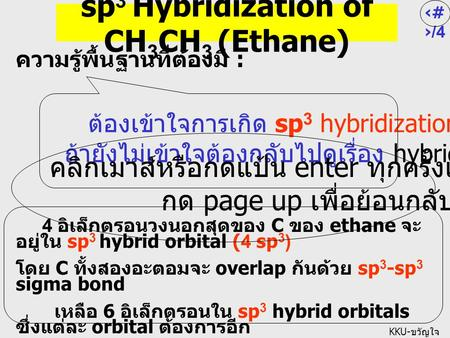 sp3 Hybridization of CH3CH3 (Ethane)