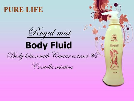 Body lotion with Caviar extract & Centella asiatica