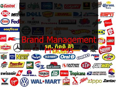 Brand Management Process รศ. กิตติ สิริ พัลลภ. Process Step 1 – Analysis of Target Market Step 2 – Brand Design Step 3 – Brand Communication Step 4 –