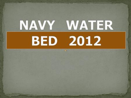 NAVY WATER BED 2012.