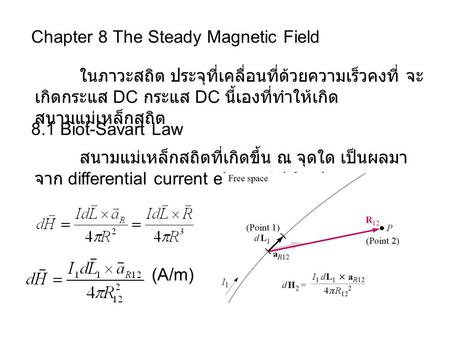 Chapter 8 The Steady Magnetic Field
