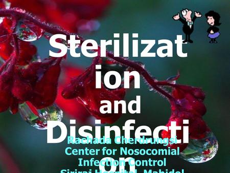 Sterilizat ion and Disinfecti on Rachada Cherdrungsi Center for Nosocomial Infection Control Siriraj Hospital, Mahidol University.