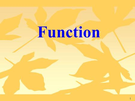 Function.