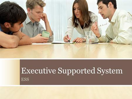 Executive Supported System