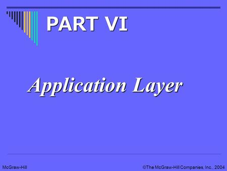 McGraw-Hill©The McGraw-Hill Companies, Inc., 2004 Application Layer PART VI.
