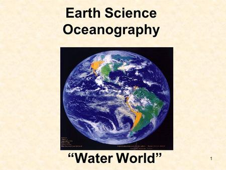 Earth Science Oceanography