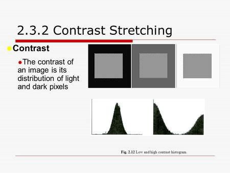 2.3.2 Contrast Stretching Contrast