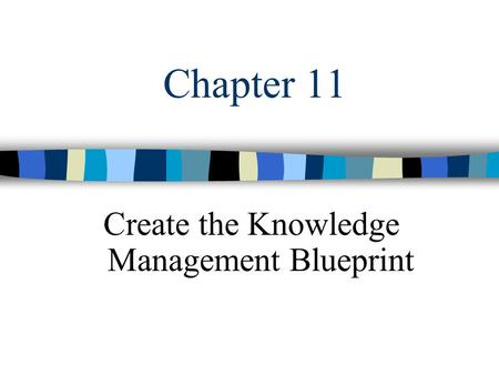 Chapter 11 Create the Knowledge Management Blueprint.
