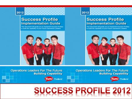 Change pic to the cover Success Profile 2012 Success Profile 2012.