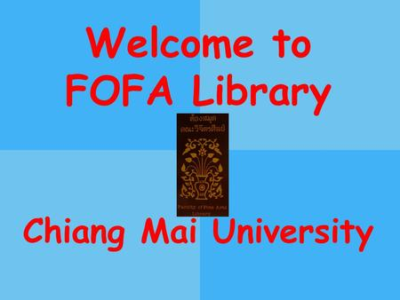 Welcome to FOFA Library