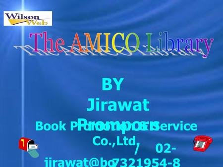 Jirawat Promporn ok.co.th / 02- 7321954-8 BY Book Promotion & Service Co.,Ltd.