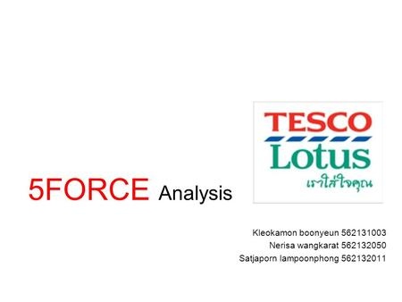 5FORCE Analysis Kleokamon boonyeun
