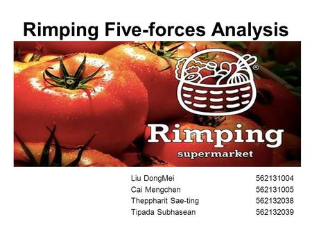 Rimping Five-forces Analysis