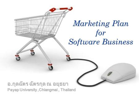 Company LOGO อ.กุลฉัตร ฉัตรกุล ณ อยุธยา Payap University,Chiangmai, Thailand Marketing Plan for Software Business.