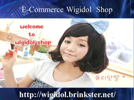 E-Commerce Wigidol Shop